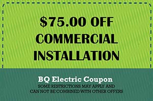 BQ Electric Commercial Installation Coupon