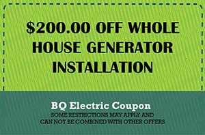 BQ Coupon Home Generator Installation Coupon
