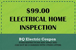 BQ Electric Home Inspection Coupon