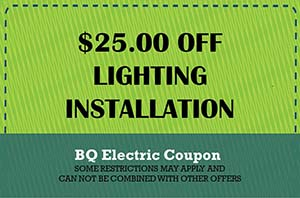 BQ Electric Lighting Installation Coupon