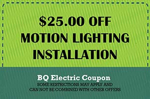 BQ Coupon Motion Lighting Installation Coupon